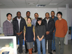 Five trainees from Sudan started a 15-days Geological Evaluation & FDP Study on December 15,2007 in Beijing, China. During the training, they studied Petrel, Geoframe and Jason and got lots of precious technologies and experices. At the end, they got certifications of Geological Evaluation & FDP Study.